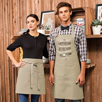 Apron – A full range available to suit every industry. Embroidered, printed or transfer print options available. Sizes from junior to adult.