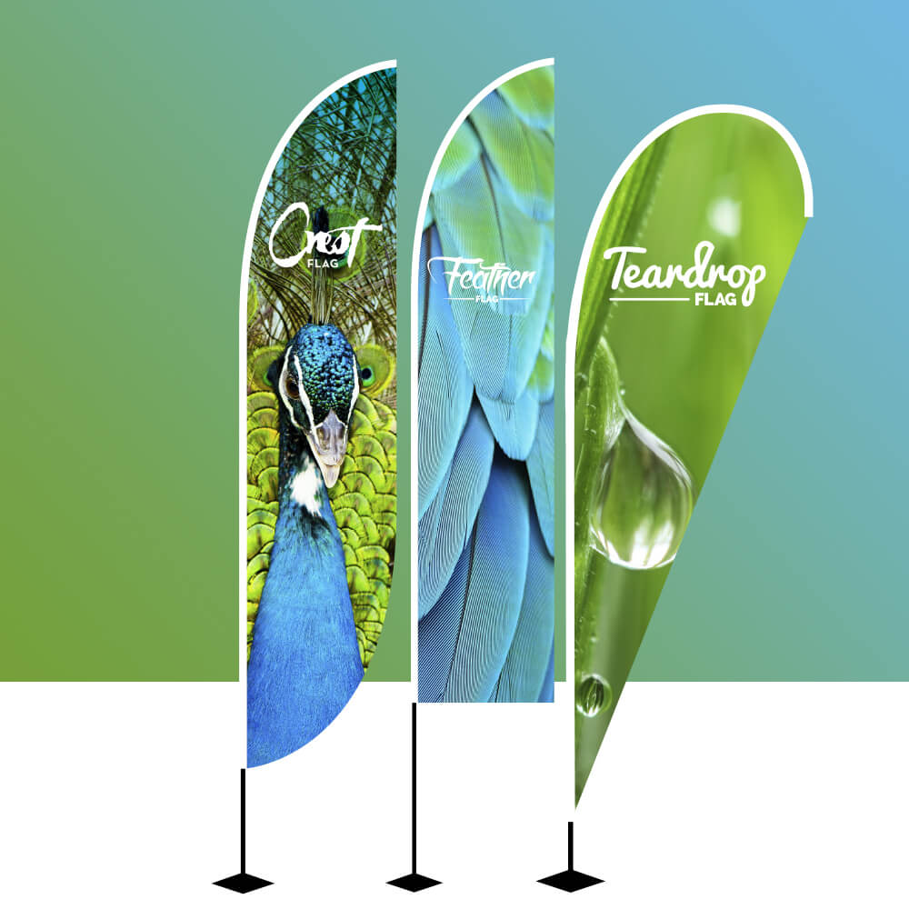 Flags – A comprehensive range of styles and sizes suitable for both indoor and outdoor use.