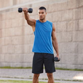Gym Wear – Embroidered, printed or transfer print onto a range of sizes and styles.