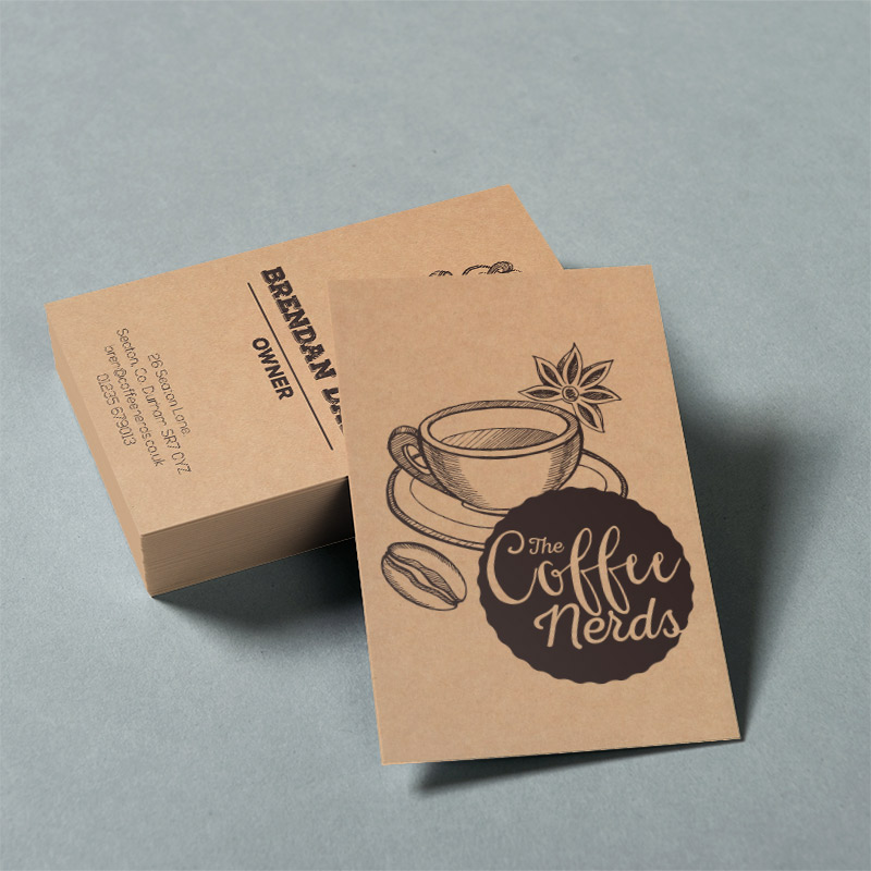 Business cards – Available in various weights and materials with special finishes including round corners, lamination, spot UV varnish and folded.