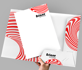 Presentation Folders – Available in various shapes and sizes. With special finishes including round corners, lamination, spot UV varnish and folded.