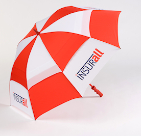 Umbrellas – Printed promotional umbrellas which have prices and styles available to suit any budget.