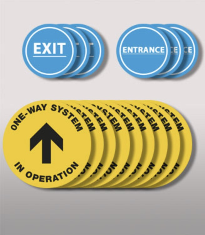 COVID floor stickers