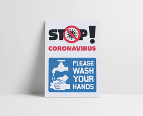 COVID workplace sanitiser labels